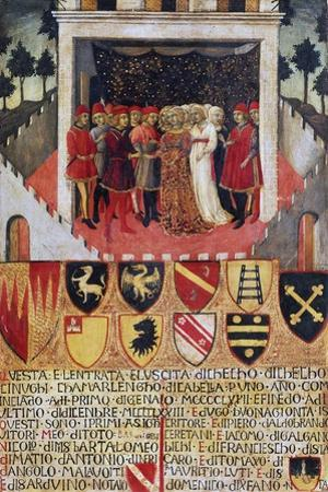 The Gift of the Ring, Wedding Scene Between Sienese Noble Families, 1473