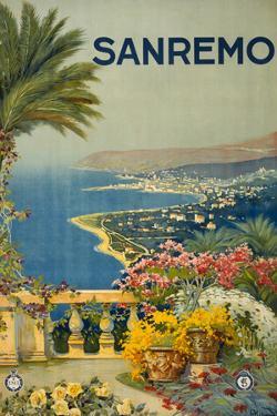Sanremo Italy Tourism Travel Vintage Ad