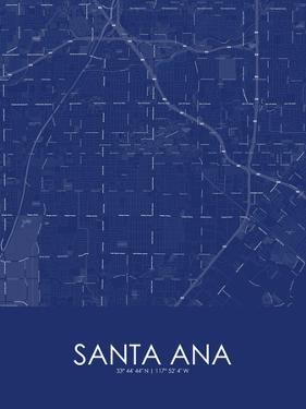 Santa Ana, United States of America Blue Map