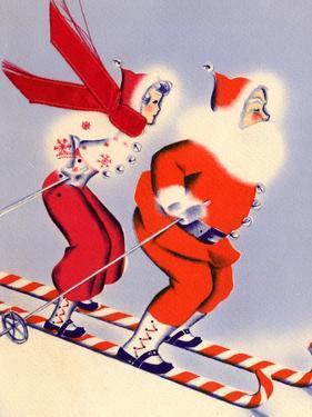 Santa and Woman Together on Candy Cane Skis, National Museum of American History, Archives Center