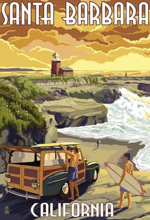 Santa Barbara, California - Woody and Lighthouse