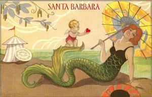 Santa Barbara, Mermaid and Cherub
