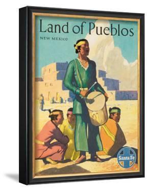 Santa Fe Railroad: Land of Pueblos, c.1950's
