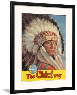 Santa Fe Railroad, The Chief Way, Native American Indian, c.1955