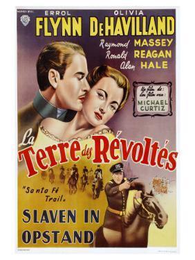Santa Fe Trail, Belgian Movie Poster, 1940