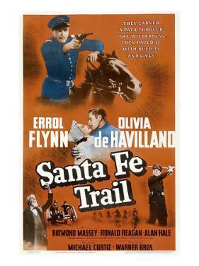 Santa Fe Trail, Errol Flynn, (Poster), 1940