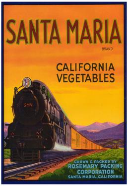 Santa Maria Vegetable Label - Santa Maria, CA