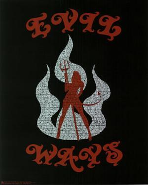 Santana (Evil Ways Lyrics) Music Poster Print