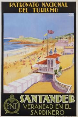 Santander Veranead En El Sardinero Poster
