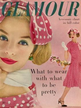 Glamour Cover - March 1958 by Sante Forlano