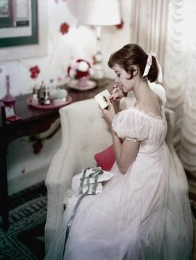 Glamour - October 1956 - Young Woman at Home by Sante Forlano