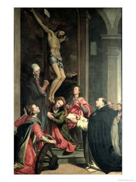 St. Thomas in Prayer by Santi Di Tito