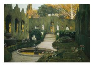 Gardens of Aranjuez by Santiago Rusinol