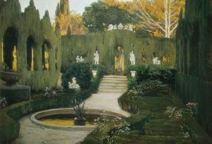 Gardens of Aranjuez by Santiago Rusinol