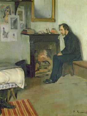 The Bohemian (Portrait of Erik Satie in His Studio in Montmartre), 1891 by Santiago Rusinol i Prats
