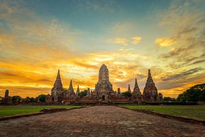 Old Temple Wat Chaiwatthanaram in Ayutthaya,Thailand by SantiPhotoSS