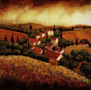 Tuscan Hillside Village by Santo Devita