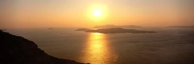 Santorini from Athinios, Greece