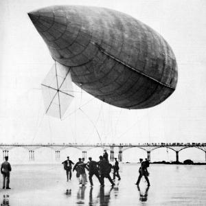 Santos-Dumont's Airship Departing from Trouville, France, 1905