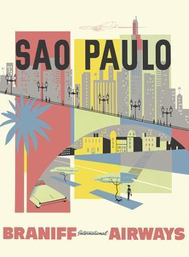 Sao Paulo, Brazil - Braniff International Airways