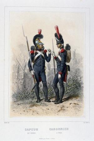 Sapper and Gunner, Napoleon's Imperial Guard by C Colin