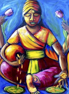 "Lakshmi ""Goddess of Abundance"" by Sara Catena"