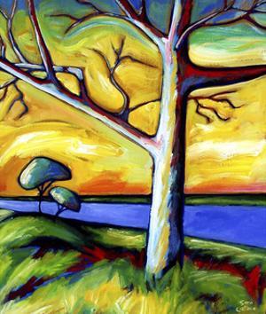Trees Beside the Lake by Sara Catena