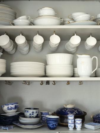 Crockery on Shelves by Sara Danielsson