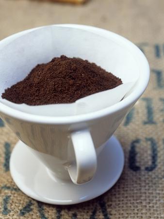 Ground Coffee in Filter by Sara Danielsson