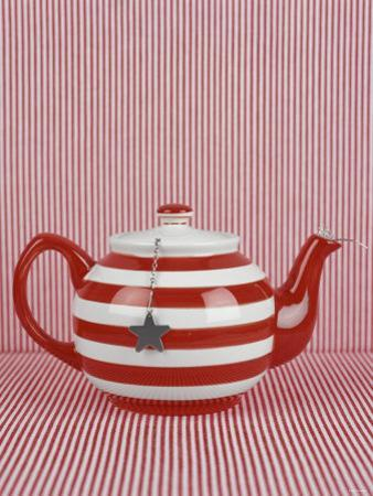 Striped Teapot with Tea Ball by Sara Danielsson