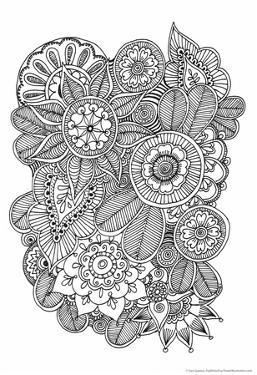 Black and White Floral Design II by Sara Gayoso