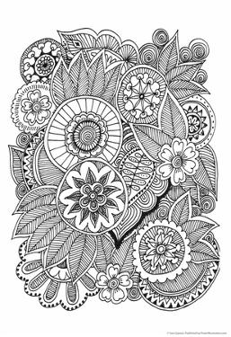 Black and White Floral Design III by Sara Gayoso
