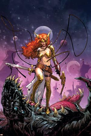 Guardians of the Galaxy #6 Cover: Angela by Sara Pichelli