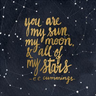 Starry Words III Gold by Sara Zieve Miller