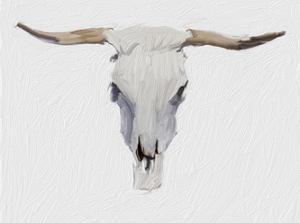 Alabaster Cow Skull by Sarah Butcher