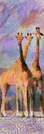 Trio Giraffe by Sarah Butcher