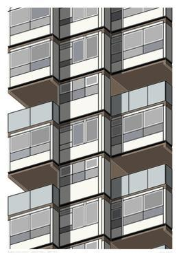Lambeth Towers - Sepia by Sarah Evans