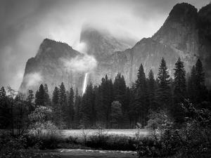 Black and White Bridalveil Falls by Sarah Fields