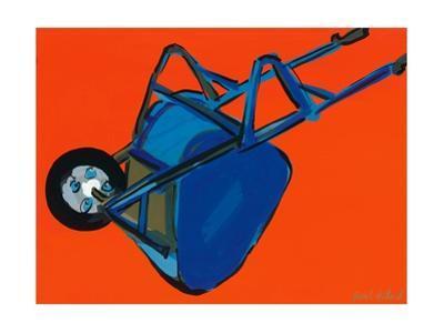 Blue Wheelbarrow, 2010