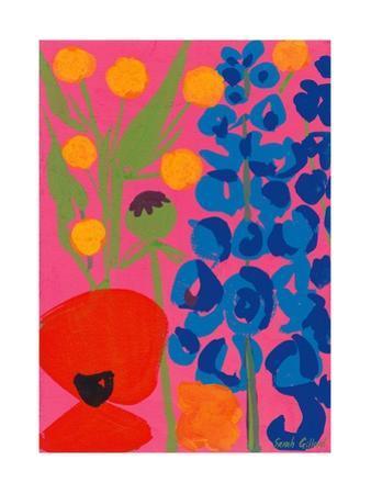 Poppy and Delphinium, 1998