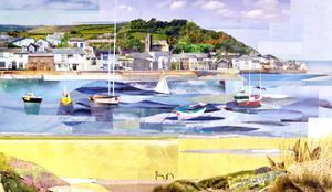 Boats Anchored in Small Bay by Sarah Jackson