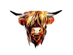 Head of Brown Bull by Sarah Jackson