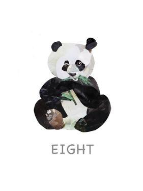 Panda Eating Bamboo by Sarah Jackson
