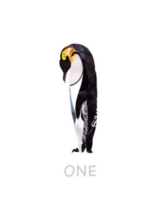 Penguin Against White Background by Sarah Jackson