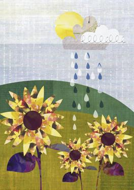 Sunflowers and Rain by Sarah Jackson