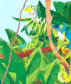 Three Chameleons in Tree by Sarah Jackson