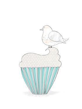 Bird on a Cupcake by Sarah Ogren