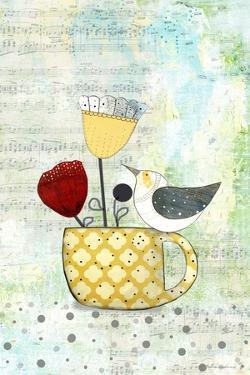 Bird on a Yellow Cup by Sarah Ogren