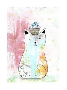 Cat with Cupcake 1 by Sarah Ogren