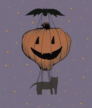 Halloween Pumpkin Balloon by Sarah Ogren